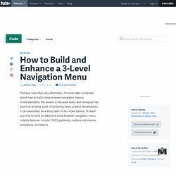 How to Build and Enhance a 3-Level Navigation Menu