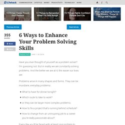 6 Ways to Enhance Your Problem Solving Skills