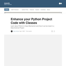 Enhance your Python Project Code with Classes