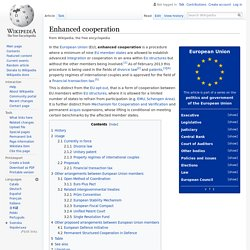 Enhanced cooperation - Wikipedia