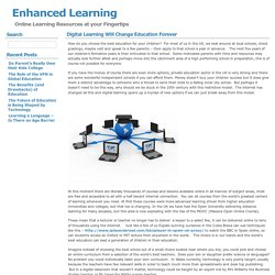 Enhanced Learning » Digital Learning Will Change Education Forever