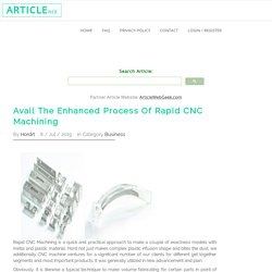 Avail The Enhanced Process Of Rapid CNC Machining
