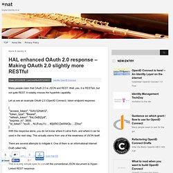 HAL enhanced OAuth 2.0 response – Making OAuth 2.0 slightly more RESTful : =nat