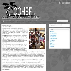 COHEF: Children Of Haiti Enhancement Foundation, Inc.