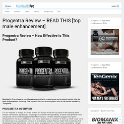 Progentra Side Effects - MaxHealthPro