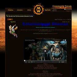[PVP] Enhancement Shaman General Guide