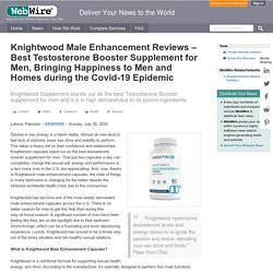 knightwood testosterone booster