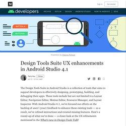 Design Tools Suite UX enhancements in Android Studio 4.1
