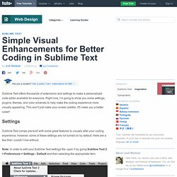 Simple Visual Enhancements for Better Coding in Sublime Text