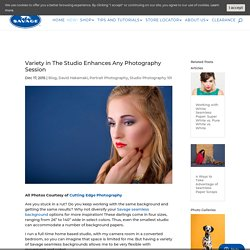 Variety in The Studio Enhances Any Photography Session