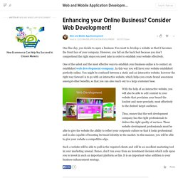 Enhancing your Online Business? Consider Web Development!