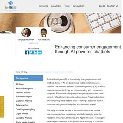 Enhancing consumer engagement through AI powered chatbots ·