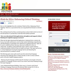 iPads for ELLs: Enhancing Critical Thinking