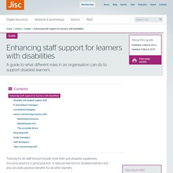 JISC - Enhancing staff support for learners with disabilities