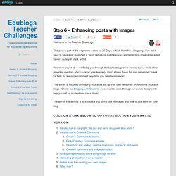 Kick Start Activity 5 – Beginner – Enhancing posts with images