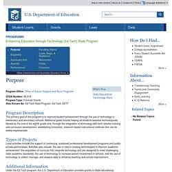 Enhancing Education through Technology (Ed-Tech) State Program