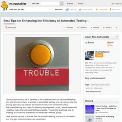 Best Tips for Enhancing the Efficiency of Automated Testing - All