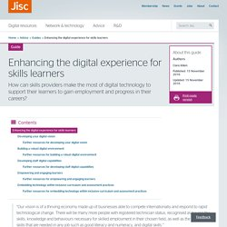 Enhancing the digital experience for skills learners