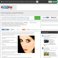 Enhancing Eyes using Photoshop