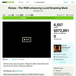 Remee - The REM enhancing Lucid Dreaming Mask by Bitbanger Labs