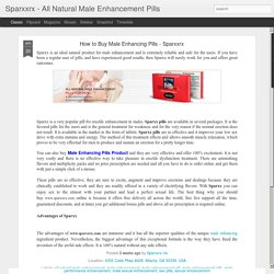 Sparxxrx - All Natural Male Enhancement Pills: How to Buy Male Enhancing Pills - Sparxxrx