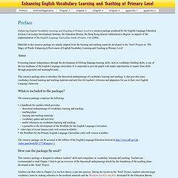 Enhancing Vocabulary Learning and Teaching at Primary Level