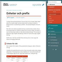 Enheter och prefix (Skolår 7, Geometri och enheter)