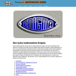 Enigma - den tyske kodemaskine
