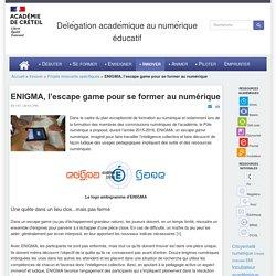 ENIGMA, l'escape game pour se former au numérique