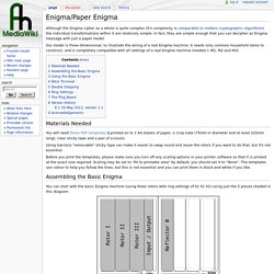 Enigma/Paper Enigma - Franklin Heath Ltd Wiki