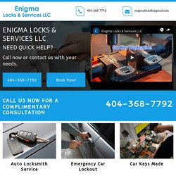 Enigma Locks & Services LLC, auto locksmith services Hiram GA