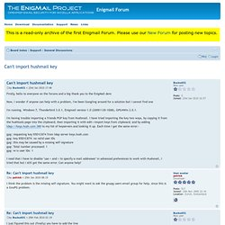 Enigmail Forum • View topic - Can't import hushmail key