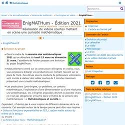 EnigMATHum - Édition 2021 - Mathématiques