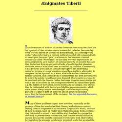 Enigmatic Questions of Tiberius