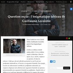 Question reçue : l'énigmatique tableau de Guillaume Lecointre -