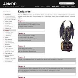 Énigmes » Donjons & Dragons 5 - D&D 5