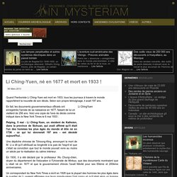 Li Ching-Yuen médecin, pharmacien & herboriste chinois
