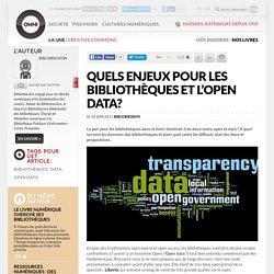 Quels enjeux pour les bibliothèques et l'open data?