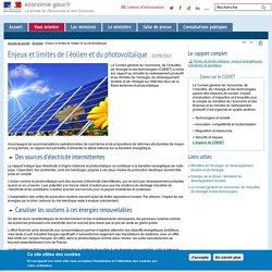 Enjeux et limites de l'éolien et du photovoltaïque