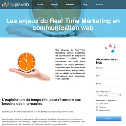 Les enjeux du Real Time Marketing en communication web