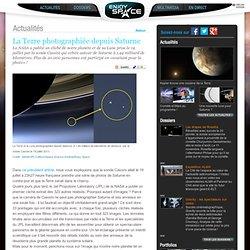 La Terre photographiée depuis Saturne