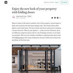 Enjoy the new look of your property with folding doors