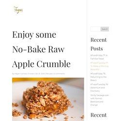 Enjoy some No-Bake Raw Apple Crumble