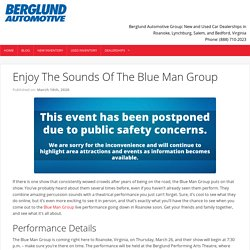 Enjoy The Sounds Of The Blue Man Group - Berglund Cars