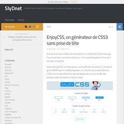 EnjoyCSS, un générateur de CSS3 sans prise de tête