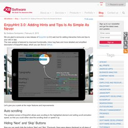 EnjoyHint 3.0: Adding Hints and Tips Is As Simple As Never - XB Software