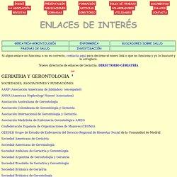 ENLACES DE GERIATRIA Y GERONTOLOGIA