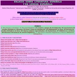 Enlaces sobre literatura española y en español
