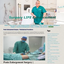 Penis Enlargement Surgery · Phalloplasty Procedures