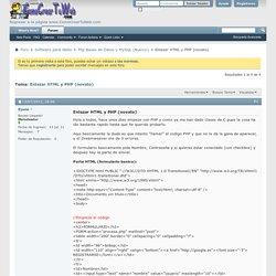 Enlazar HTML y PHP (novato)